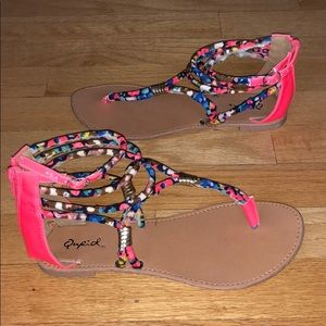 Sandals/flats size 7 very good condition worn ONCE